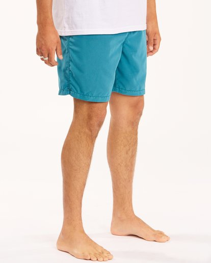 """6 All Day Overdyed Layback Boardshorts 17"""" Blue ABYBS00134 Billabong"""