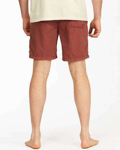 """5 All Day Overdyed Layback Boardshorts 17"""" Red ABYBS00134 Billabong"""