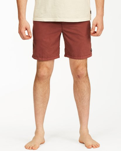 """2 All Day Overdyed Layback Boardshorts 17"""" Red ABYBS00134 Billabong"""