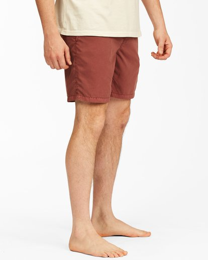 """3 All Day Overdyed Layback Boardshorts 17"""" Red ABYBS00134 Billabong"""