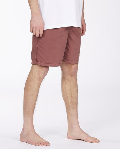 """4 All Day Overdyed Layback Boardshorts 17"""" Red ABYBS00134 Billabong"""