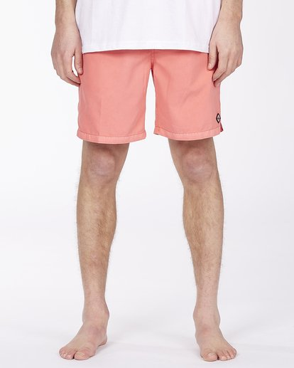 "2 All Day Overdyed Layback Boardshorts 17"" Orange ABYBS00134 Billabong"