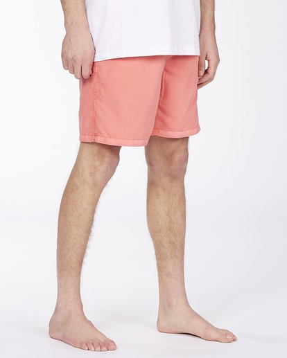 "4 All Day Overdyed Layback Boardshorts 17"" Orange ABYBS00134 Billabong"