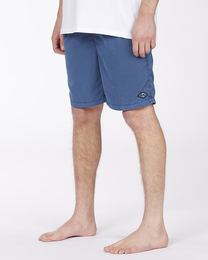 """3 All Day Overdyed Layback Boardshorts 17"""" Brown ABYBS00134 Billabong"""