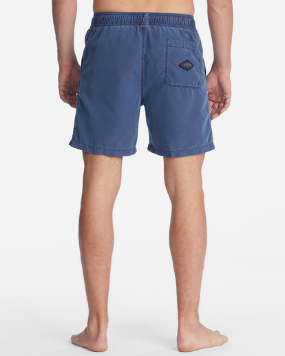 """7 All Day Overdyed Layback Boardshorts 17"""" Blue ABYBS00134 Billabong"""