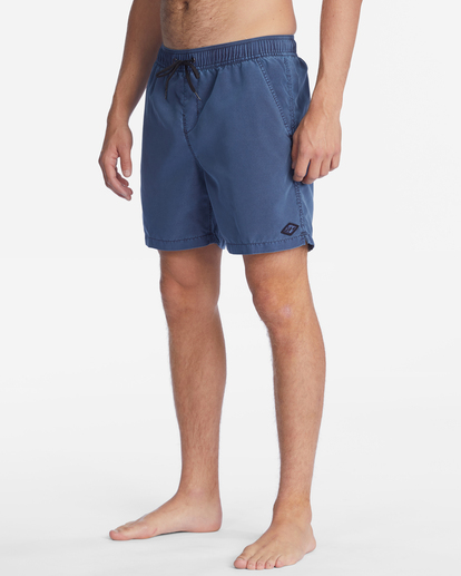 """5 All Day Overdyed Layback Boardshorts 17"""" Blue ABYBS00134 Billabong"""