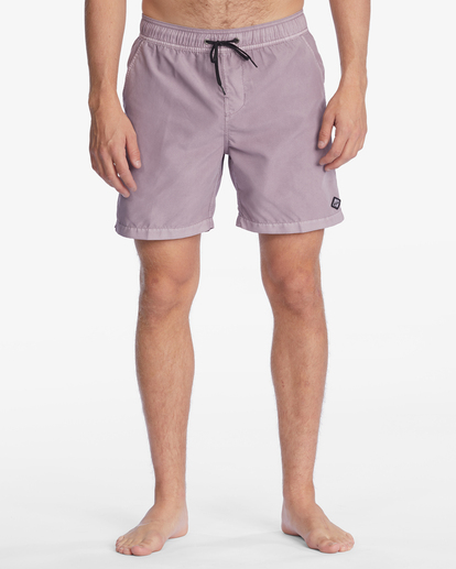 """4 All Day Overdyed Layback Boardshorts 17"""" Purple ABYBS00134 Billabong"""