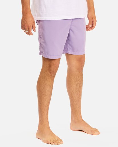 """6 All Day Overdyed Layback Boardshorts 17"""" Purple ABYBS00134 Billabong"""
