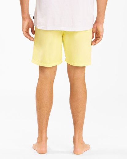 """7 All Day Overdyed Layback Boardshorts 17"""" Yellow ABYBS00134 Billabong"""