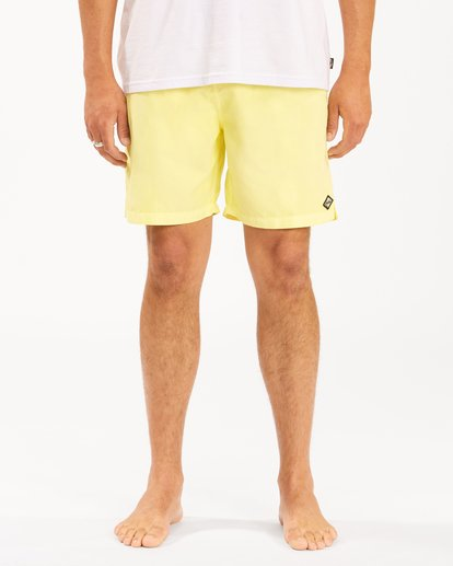 """4 All Day Overdyed Layback Boardshorts 17"""" Yellow ABYBS00134 Billabong"""