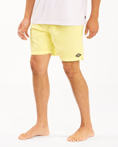 """5 All Day Overdyed Layback Boardshorts 17"""" Yellow ABYBS00134 Billabong"""
