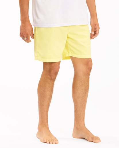 """6 All Day Overdyed Layback Boardshorts 17"""" Yellow ABYBS00134 Billabong"""
