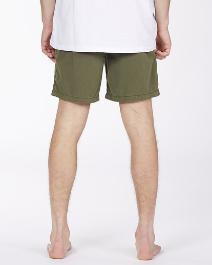 "5 All Day Overdyed Layback Boardshort 17"" Green ABYBS00134 Billabong"