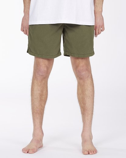 "2 All Day Overdyed Layback Boardshort 17"" Green ABYBS00134 Billabong"