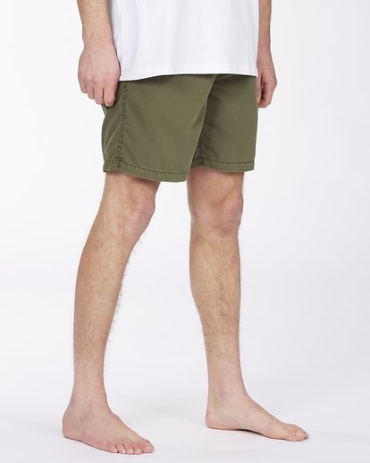 "4 All Day Overdyed Layback Boardshort 17"" Green ABYBS00134 Billabong"