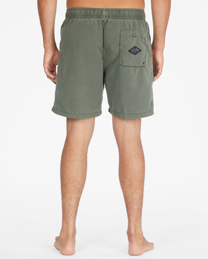 """4 All Day Overdyed Layback Boardshorts 17"""" Green ABYBS00134 Billabong"""