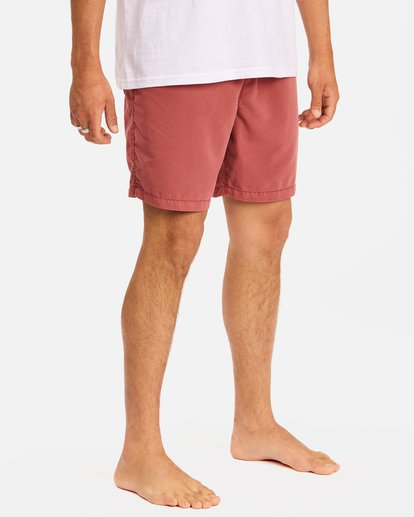 """6 All Day Overdyed Layback Boardshorts 17"""" Green ABYBS00134 Billabong"""