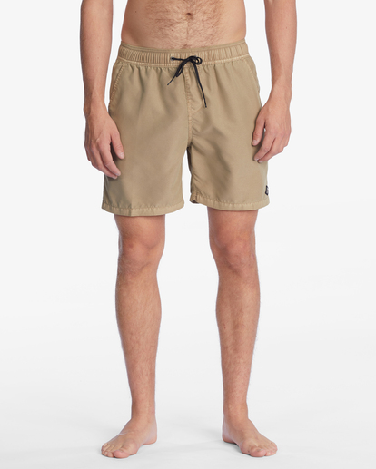 """2 All Day Overdyed Layback Boardshorts 17"""" Brown ABYBS00134 Billabong"""