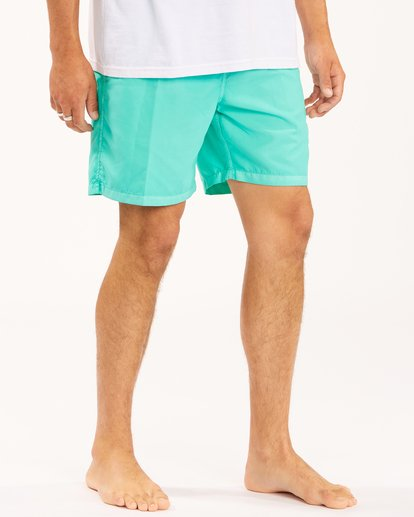 """6 All Day Overdyed Layback Boardshorts 17"""" Grey ABYBS00134 Billabong"""
