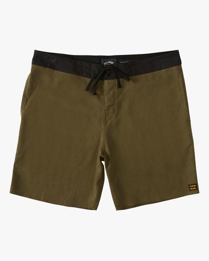 "0 A/Div Surftrek Hemp Lo Tides Boardshorts 17"" Green ABYBS00138 Billabong"