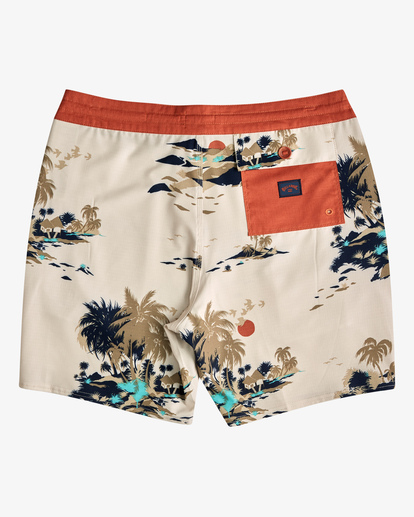 "1 Surftrek Lo Tide Boardshort 17"" Brown ABYBS00146 Billabong"
