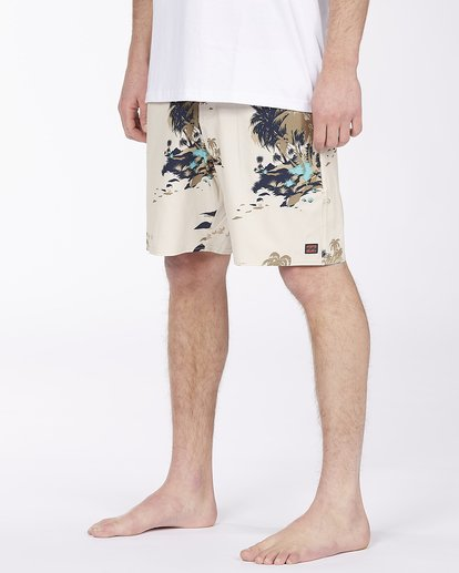 "3 Surftrek Lo Tide Boardshort 17"" Brown ABYBS00146 Billabong"