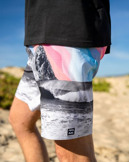 "0 A/Div Eyesolation Boardshorts 18"" Grey ABYBS00172 Billabong"