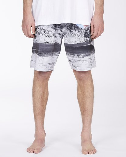 "3 A/Div Eyesolation Boardshorts 18"" Grey ABYBS00172 Billabong"