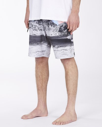 "4 A/Div Eyesolation Boardshorts 18"" Grey ABYBS00172 Billabong"