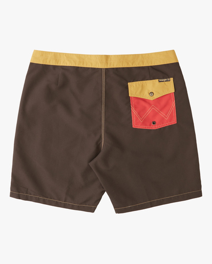 """3 Wrangler Icons Lo Tides Boardshorts 17"""" Red ABYBS00198 Billabong"""