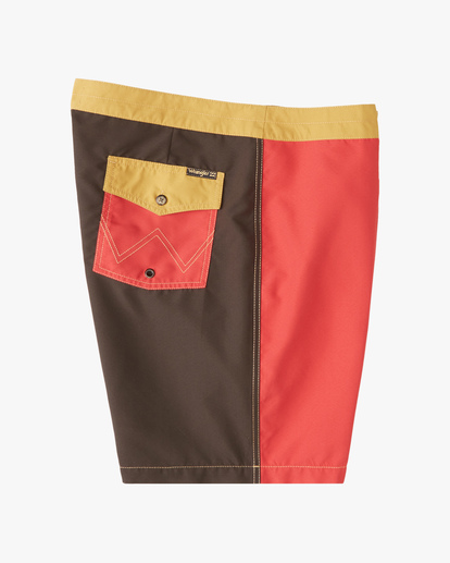 """4 Wrangler Icons Lo Tides Boardshorts 17"""" Red ABYBS00198 Billabong"""