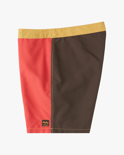 """5 Wrangler Icons Lo Tides Boardshorts 17"""" Red ABYBS00198 Billabong"""