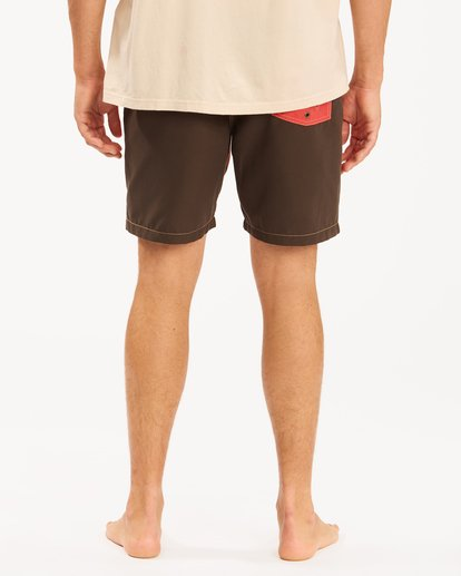 """9 Wrangler Icons Lo Tides Boardshorts 17"""" Red ABYBS00198 Billabong"""