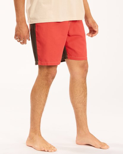 """8 Wrangler Icons Lo Tides Boardshorts 17"""" Red ABYBS00198 Billabong"""
