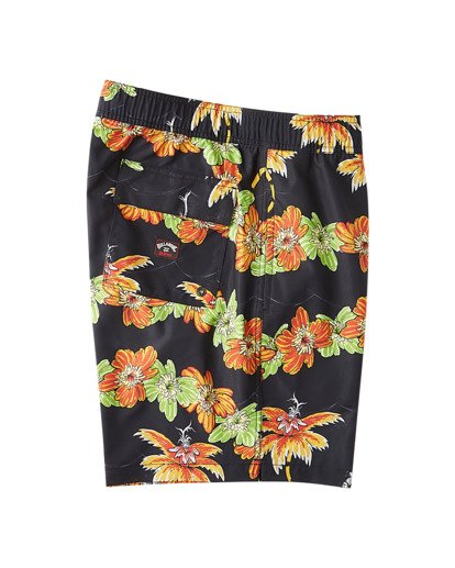 "9 Grinch Aloha Layback Boardshorts 17"" Black ABYBS00203 Billabong"