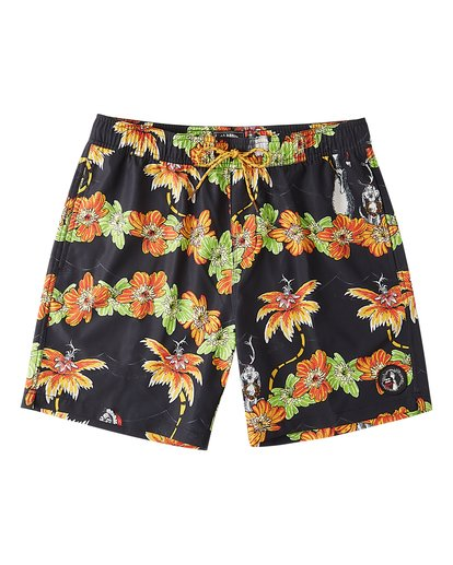 "0 Grinch Aloha Layback Boardshorts 17"" Black ABYBS00203 Billabong"