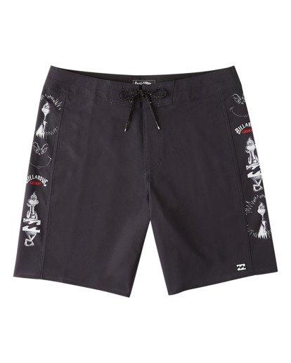 "6 Grinch Aloha D Bah Pro Boardshort 19"" Black ABYBS00206 Billabong"