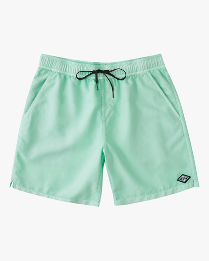 """0 All Day Overdyed Essential Boardshorts 17"""" Green ABYBS00226 Billabong"""