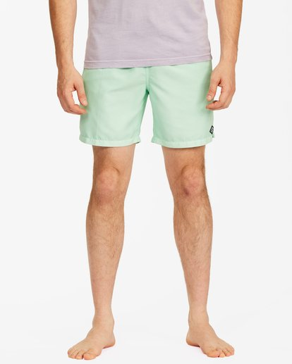 """2 All Day Overdyed Essential Boardshorts 17"""" Green ABYBS00226 Billabong"""