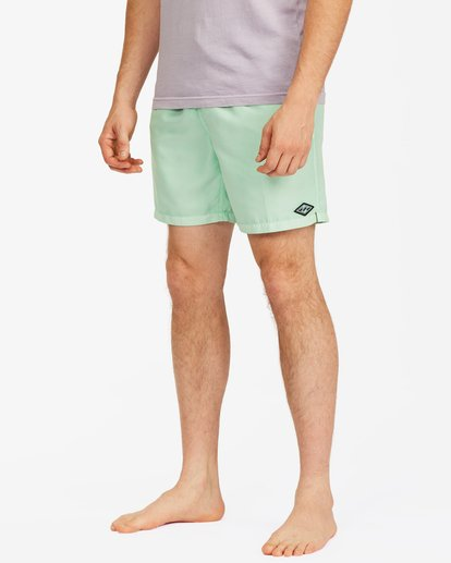"""3 All Day Overdyed Essential Boardshorts 17"""" Green ABYBS00226 Billabong"""