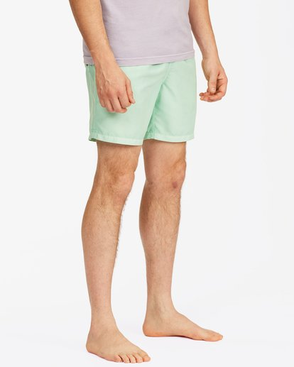 """4 All Day Overdyed Essential Boardshorts 17"""" Green ABYBS00226 Billabong"""