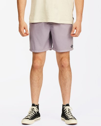 """2 All Day Overdyed Essential Boardshorts 17"""" Purple ABYBS00226 Billabong"""