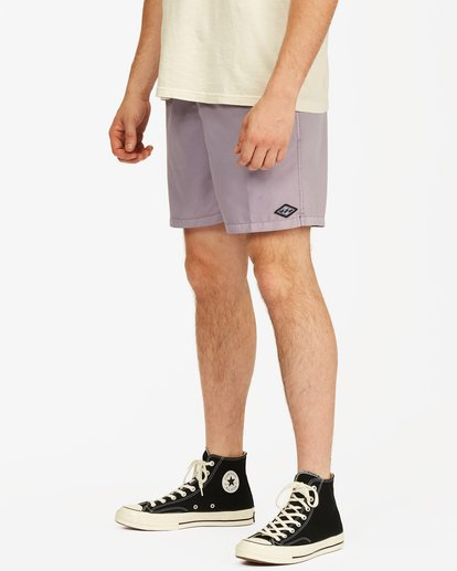 """3 All Day Overdyed Essential Boardshorts 17"""" Purple ABYBS00226 Billabong"""
