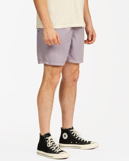 """4 All Day Overdyed Essential Boardshorts 17"""" Purple ABYBS00226 Billabong"""