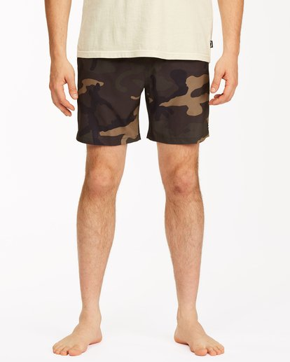 "2 Sundays Essential Boardshorts 17"" Black ABYBS00227 Billabong"
