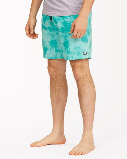 "3 Sundays Essential Boardshorts 17"" Green ABYBS00227 Billabong"
