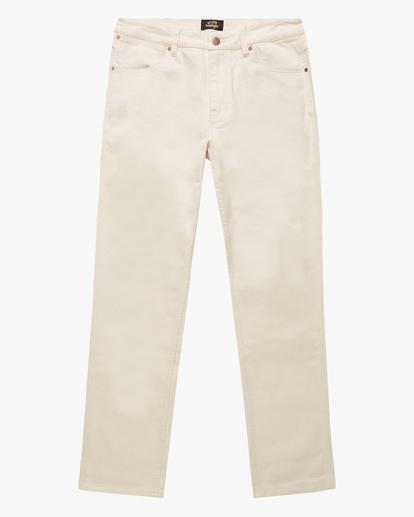 6 Wrangler 73MWOZ Organic Jeans White ABYDP00106 Billabong