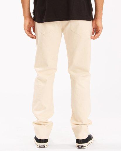 4 Wrangler 73MWOZ Organic Jeans White ABYDP00106 Billabong