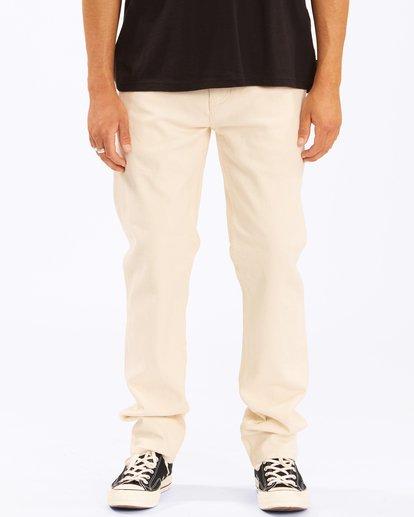 1 Wrangler 73MWOZ Organic Jeans White ABYDP00106 Billabong