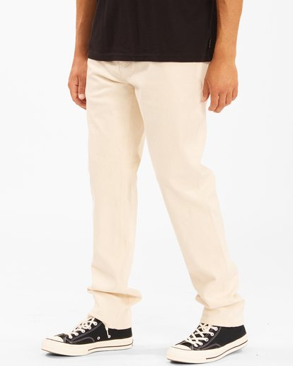 2 Wrangler 73MWOZ Organic Jeans White ABYDP00106 Billabong